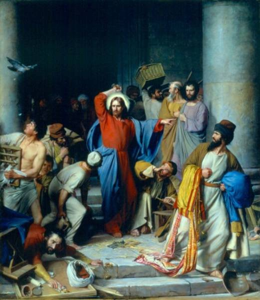 Carl Heinrich Bloch Casting out the Money Changers